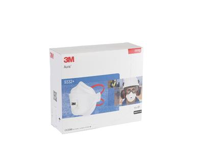 Stofmasker 3M 9332 FFP3